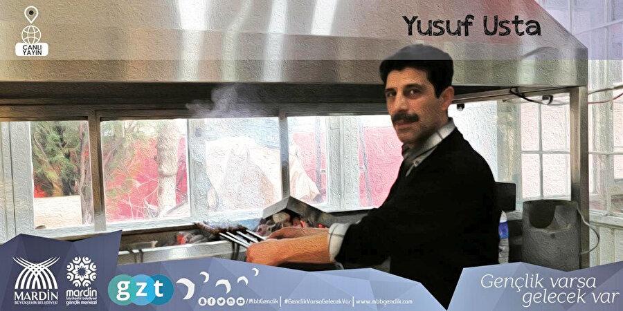 Yusuf Usta'nın sanatsal çalışması Mardin Kebabı.