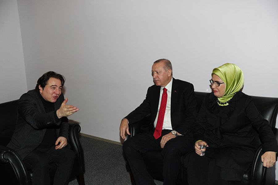 Cumhurbaşkanı Erdoğan, Say'la kuliste de bir süre sohbet etti.