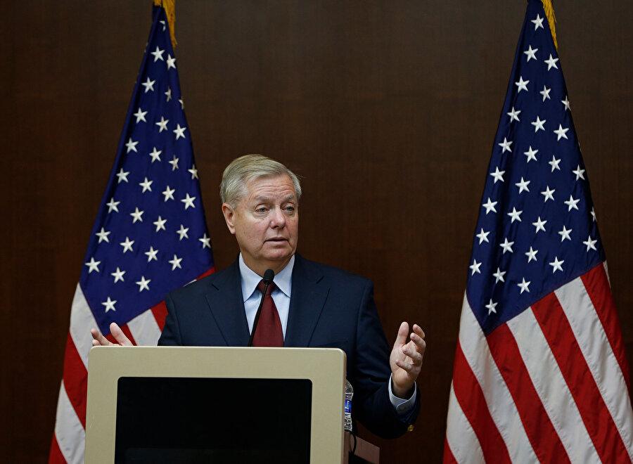 ABD'li senatör Lindsey Graham basın toplantısı düzenledi.