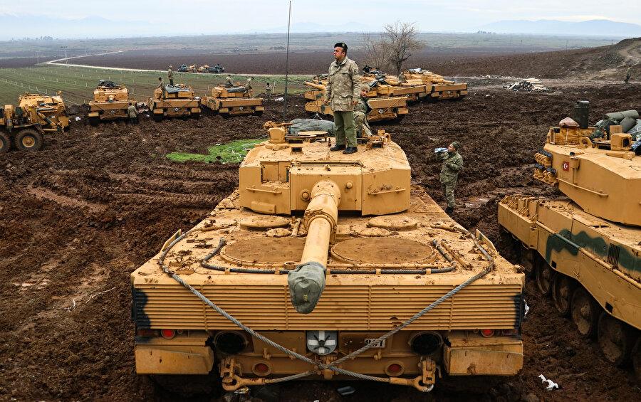 Tüm kuvvetler, 18 Mart sabahı Afrin'in kuzeyinde birleşti.