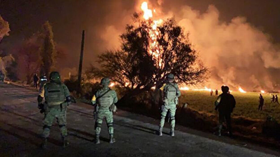 Patlama Meksika'nın Hidalgo eyaletinde meydana geldi.