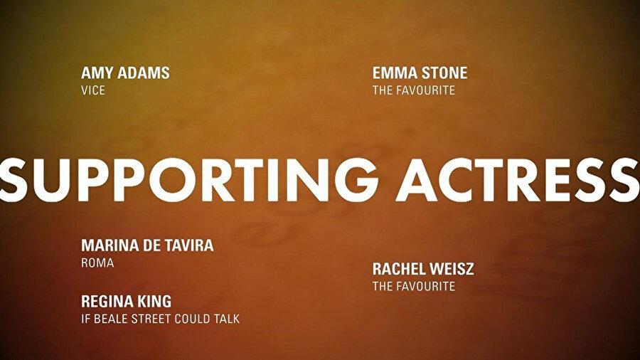 En iyi yardımcı kadın oyuncu adayları.