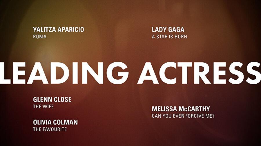 En iyi kadın oyuncu adayları.
