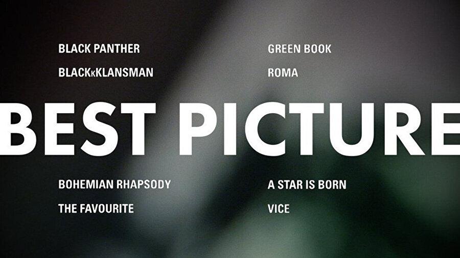 En iyi film adayları.