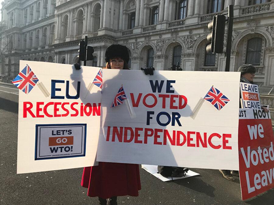 İngilizler, Başbakanlık konutu önünde protesto gösterileri düzenliyor.