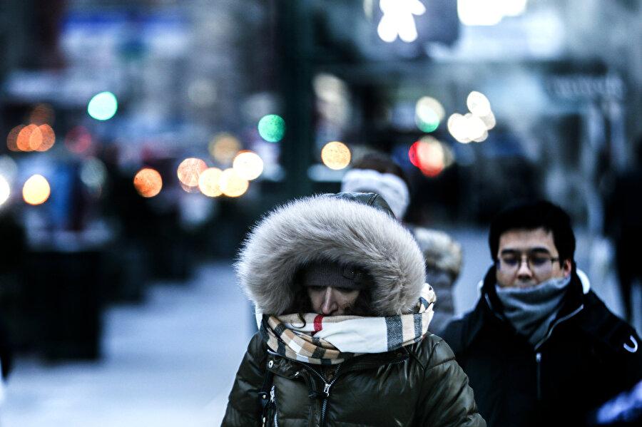 ABD'yi etkisi altına alan kutup soğukları New York kentinde de etkili oldu.
