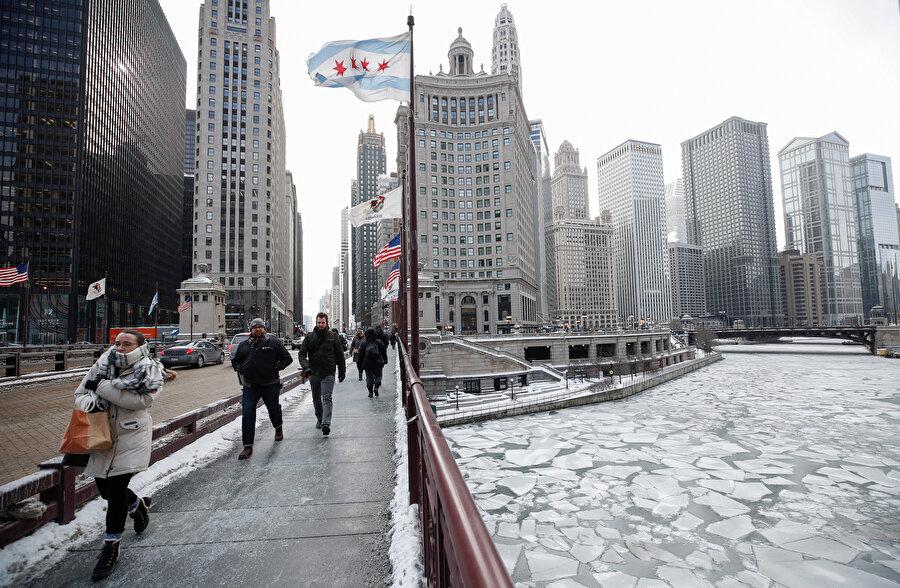 ABD'de göller buz tuttu.