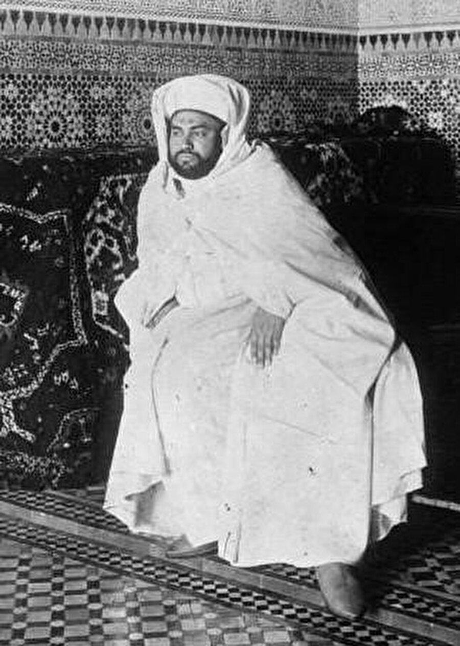 Fas Sultanı Yusuf'un 1920 tarihli bir fotoğrafı.