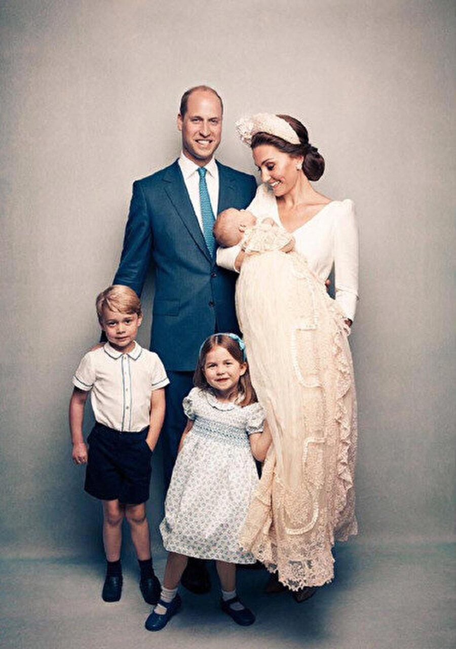 Prens William ve Kate Middleton'ın ve çocukları Prens George, Prenses Charlotte, Louis.