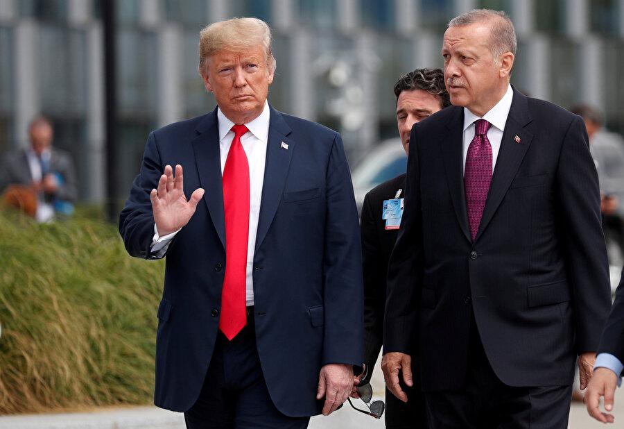 Cumhurbaşkanı Recep Tayyip Erdoğan ve ABD Başkanı Donald Trump, NATO Zirvesi için Brüksel'de bir araya gelmişti.