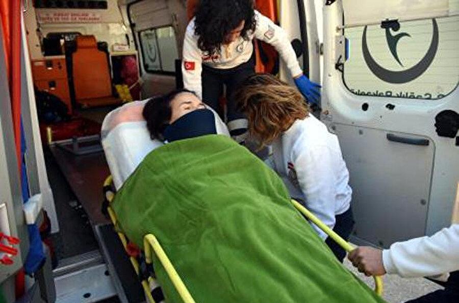 Fatma Girik hastaneye böyle götürüldü.