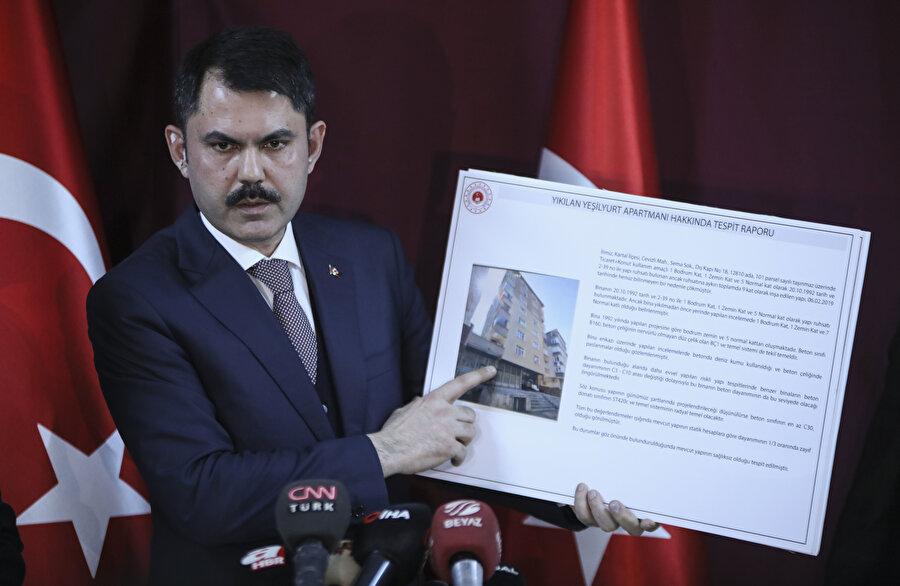 Çevre ve Şehircilik Bakanı Murat Kurum, basın açıklaması yaptı.