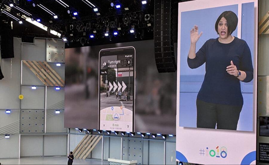 Google, geçen yılki Geliştiriciler Konferansı'nda artırılmış gerçeklik özelliğinden bahsetmişti.