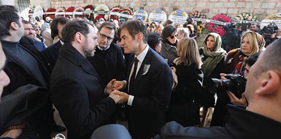 Bakan Berat Albayrak ve Mehmet Öz.