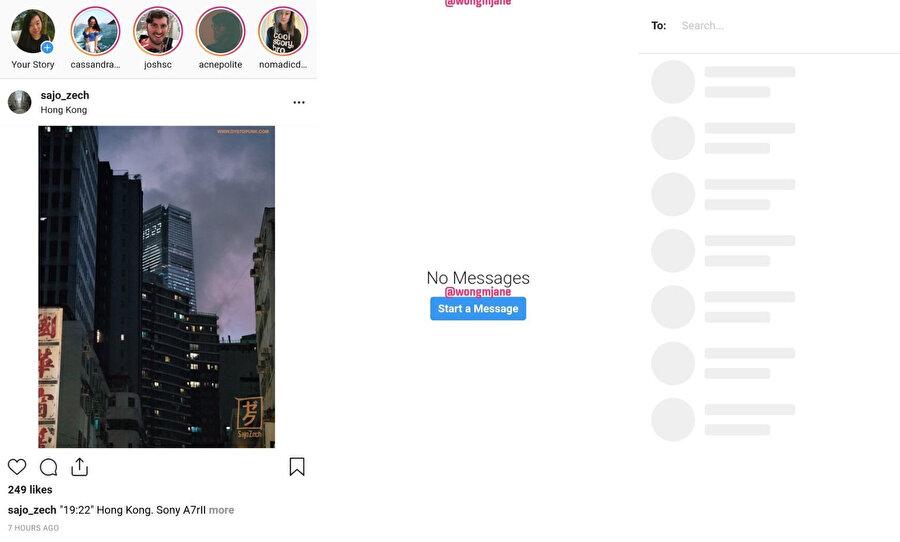 Instagram'ın mobil sitesi yakında bu şekle girebilir. Bu da aslında mesajlaşma özelliğiyle çok daha işlevsel bir kullanım sunulacağı anlamına geliyor.
