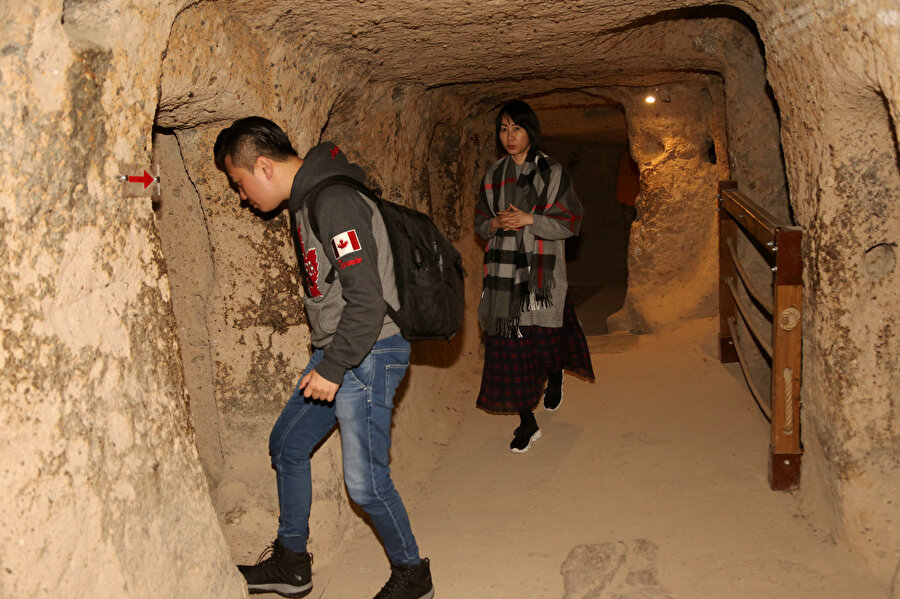 Kapadokya'ya gelen turistlerin uğrak yeri yer altı şehirleri oldu.