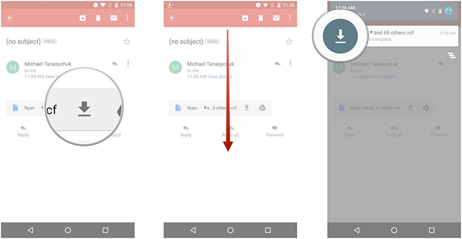 Son adımda ise dışa aktarılan VCard dosyasının Android'e geçirilmesi gerekiyor. Bunun için de rehber indirip açmak yeterli. Burada kişilerin kayıt altına alınacağı yeni yol (telefon ya da Google Rehber gibi) da seçilebiliyor.
