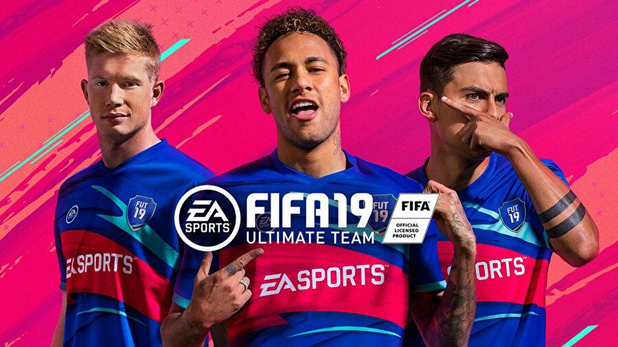 FIFA 19'un oyun içi materyallerinde artık Kevin De Bruyne, Neymar ve Dybala yer alıyor.
