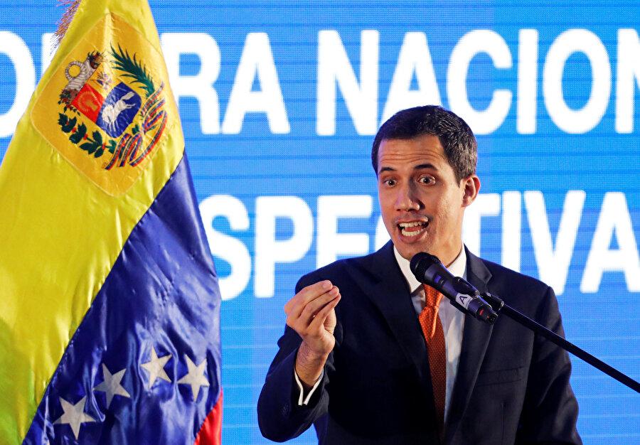 """Ulusal Meclisin Başkanı Juan Guaido, kendini """"geçici devlet başkanı"""" ilan etmişti."""