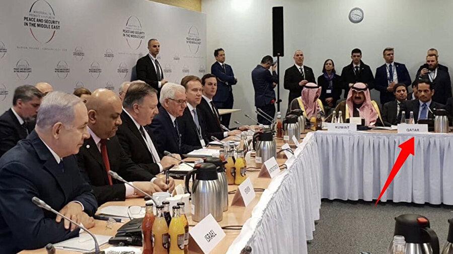 İran'ın ana gündem olduğu Varşova toplantısında Katar da hazır bulundu.
