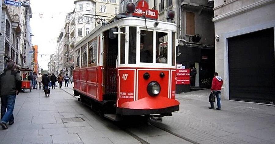Nostaljik tramvay ilk seferine 1914'te çıkmıştı.