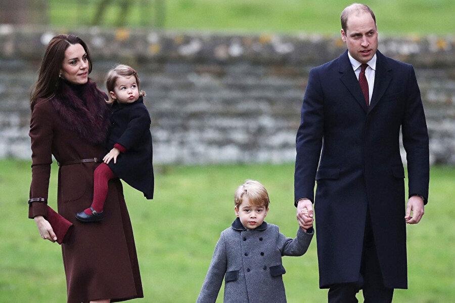 Prens William ve ailesi.