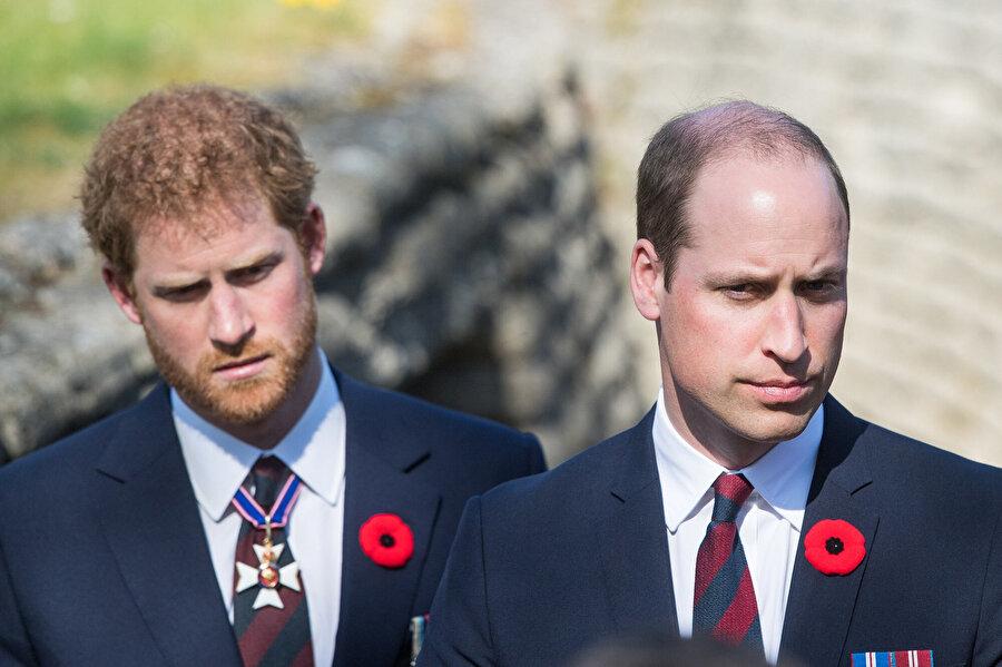 Prens Haryy ve Prens William.