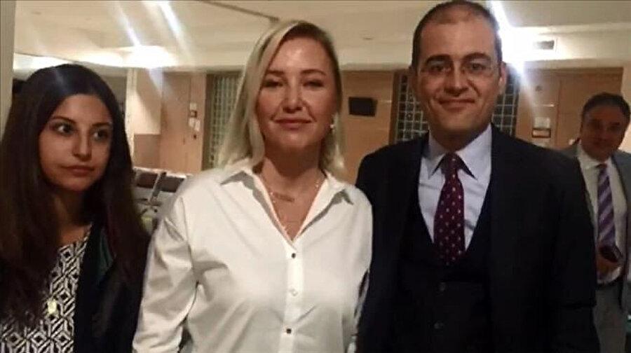 Berna Laçin, mahkemede böyle görüntülendi.