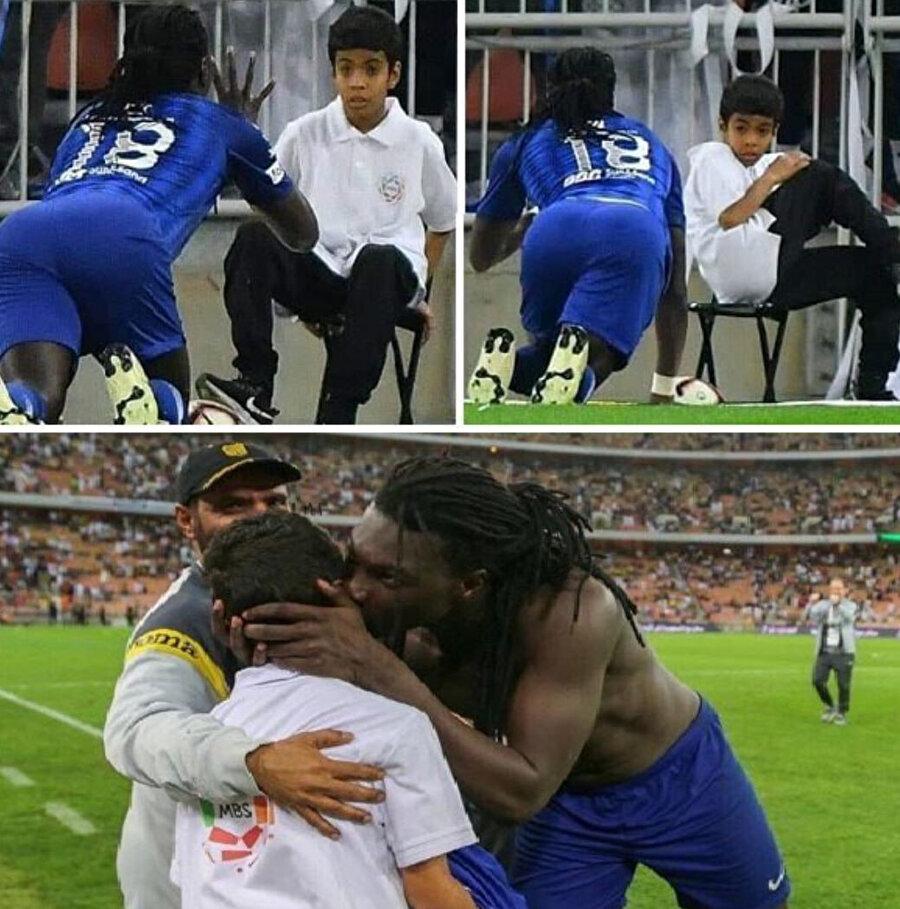Gomis'in gol sevinci, top toplayıcı çocuğu korkuttu.