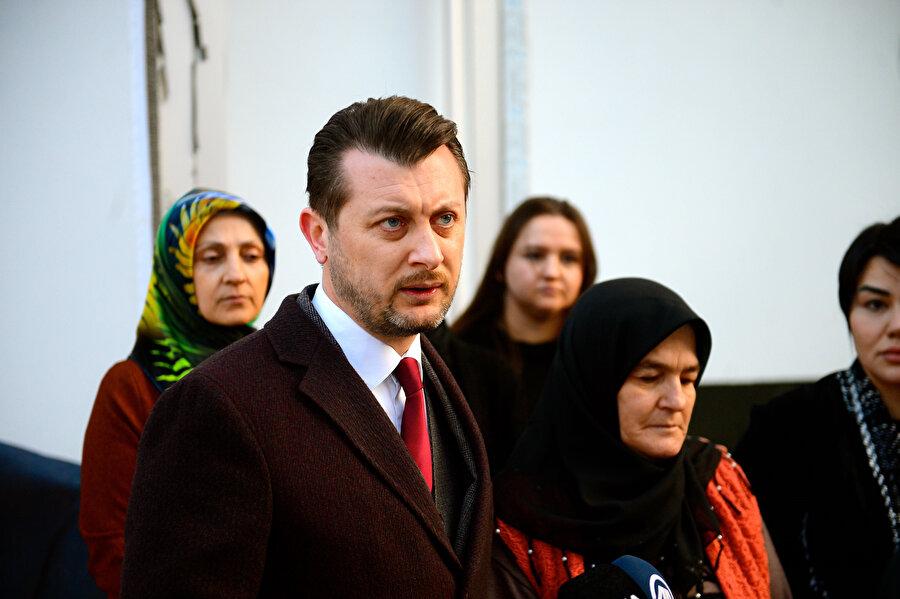 Aysun Demir, gazetecilere açıklamalarda bulundu.