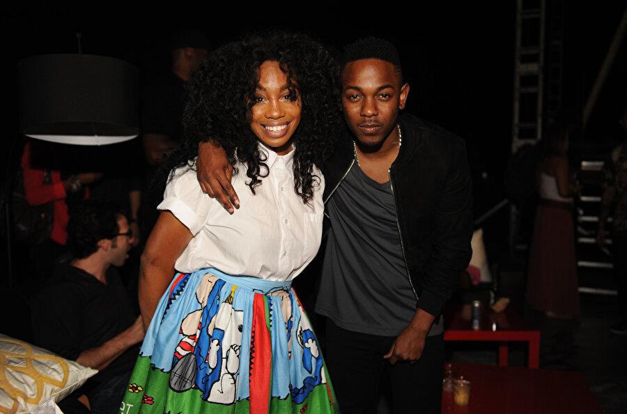 Kendrick Lamar ve SZA.