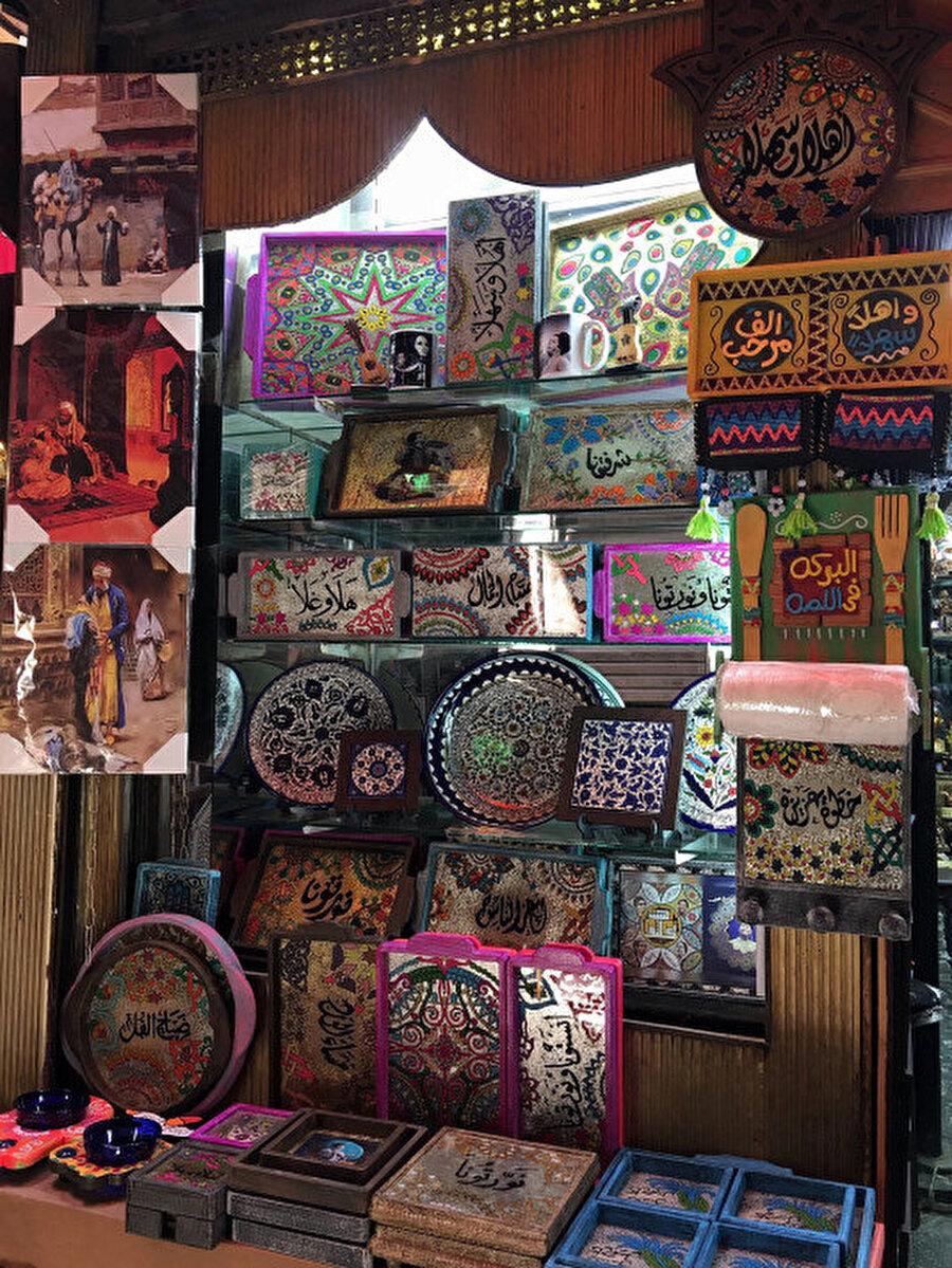 Hanü'l Halili'de bir hediyelik eşya dükkanı.