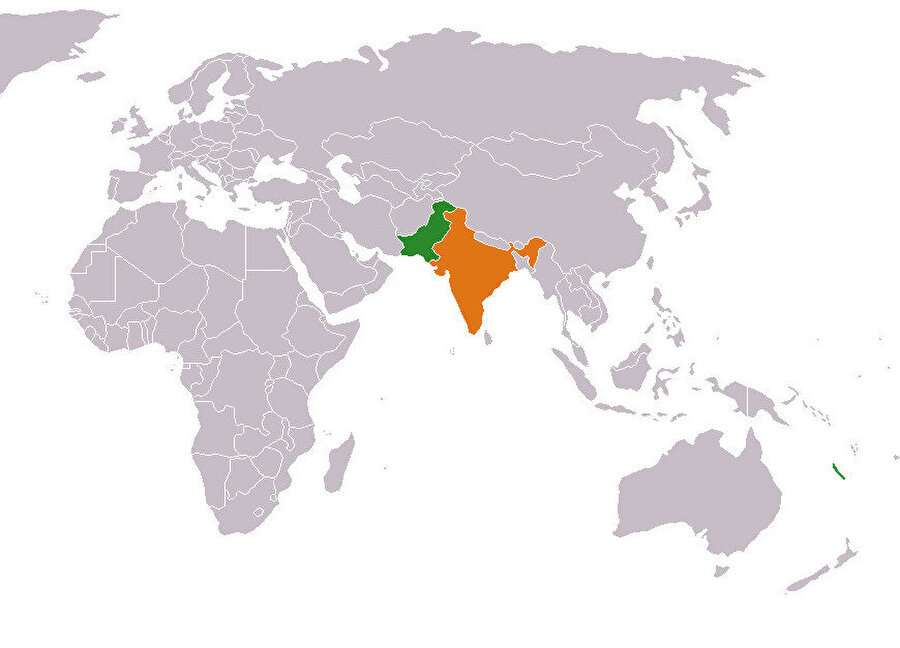 Hindistan ve Pakistan, 1947'de birbirinden ayrıldı.