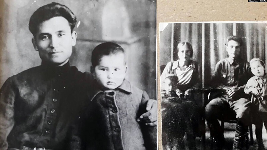 Cengiz Aytmatov babası Törekul Aytmatov ve annesi Nagime Aytmatova ile birlikte.