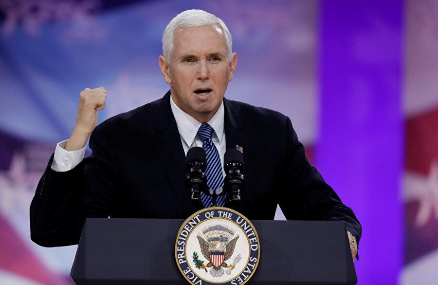 ABD Başkan Yardımcısı Mike Pence de CPAC toplantısında konuştu.