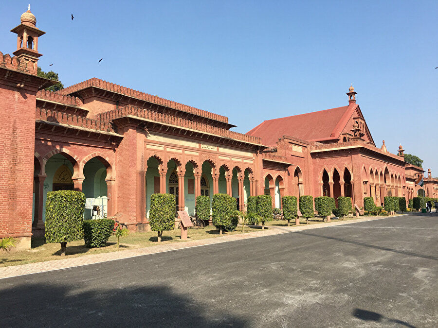 Aligarh'taki ana kampus içindeki binalarda İngiliz tarzı mimari hakimdir.