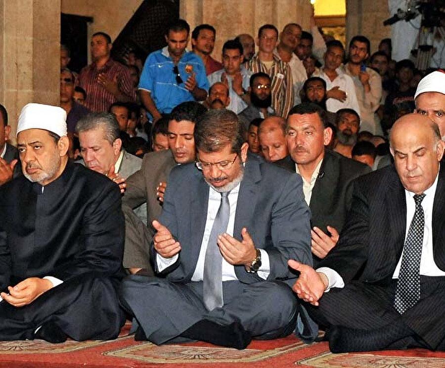 Ahmed Tayyib, Mısır Cumhurbaşkanı Muhammed Mursi ile, 2012.