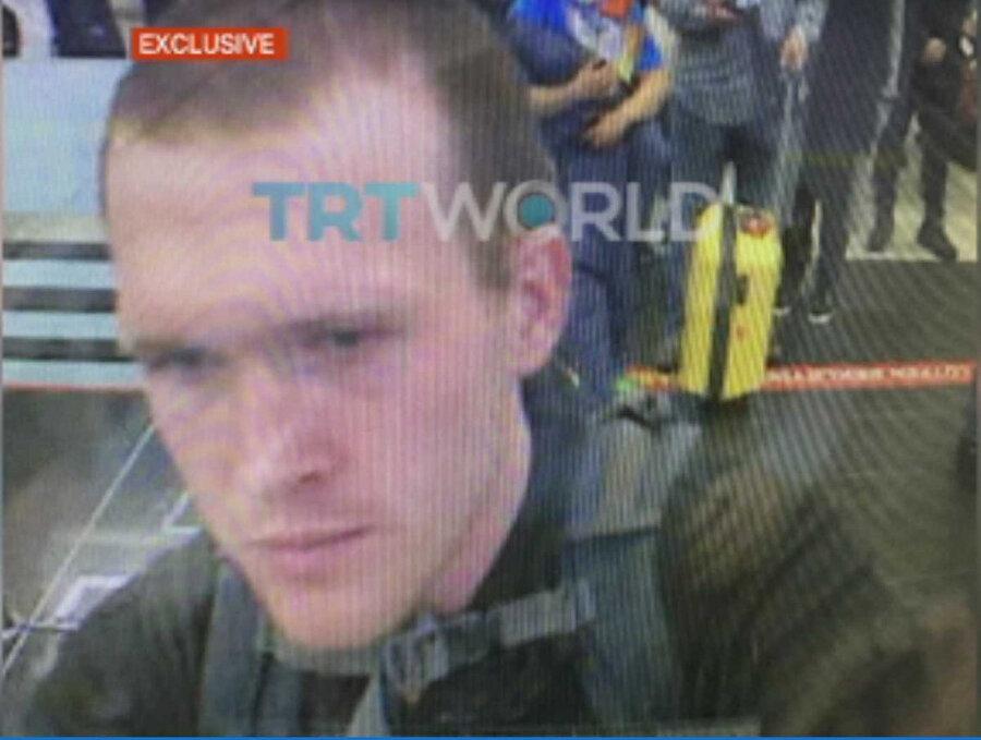 TRT World, Yeni Zelanda'da saldırıyı düzenleyen terörist Brenton Tarrant'ın Türkiye'ye giriş fotoğrafını yayınladı.