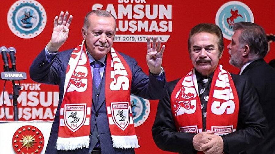 Cumhurbaşkanı Recep Tayyip Erdoğan ve Orhan Gencebay.