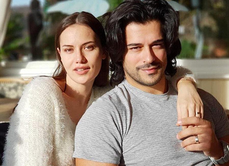 Burak Özçivit ve eşi Fahriye Evcen.