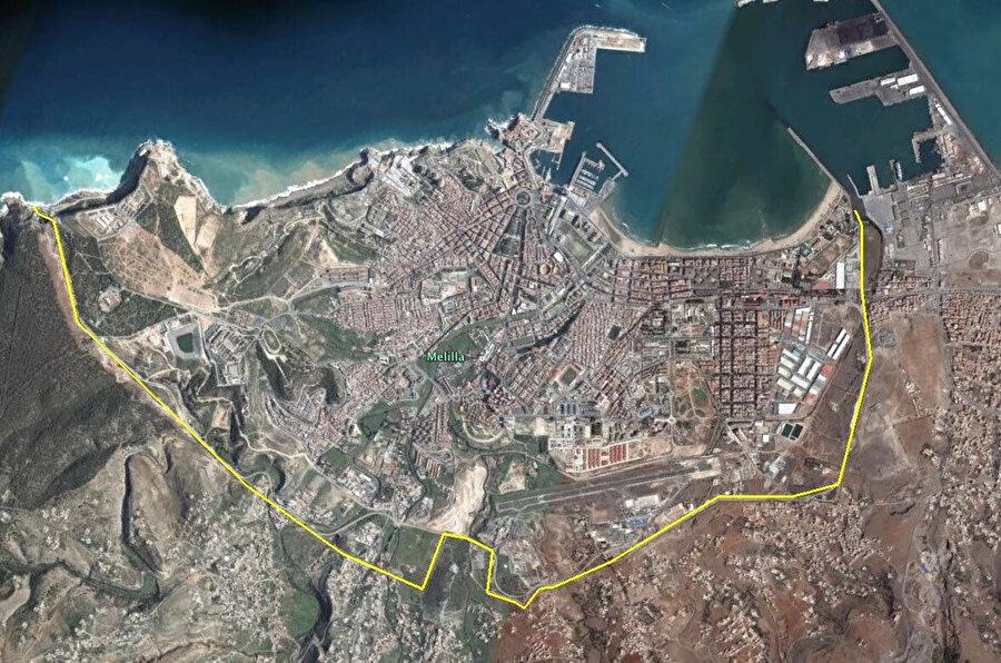 İspanya'ya ait olan Melilla, Afrika kıtasındadır.
