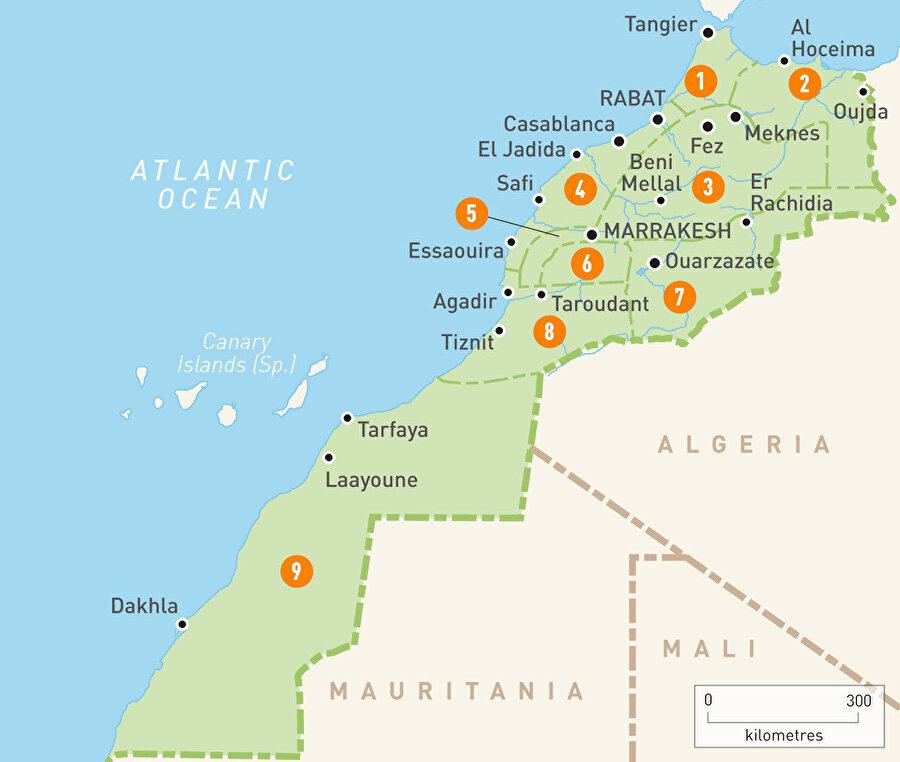 Fas, Afrika ve Avrupa'nın bağlantı noktalarından birini oluşturuyor.