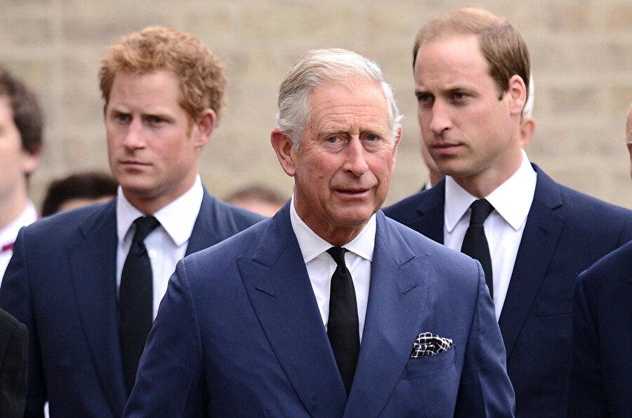 Prens Harry, Prens William, Prens Charles.