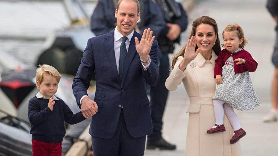 Prens William, Kate Middleton ve çocukları.