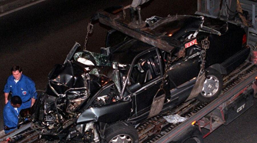 Prenses Diana'nın kaza yaptığı araç.