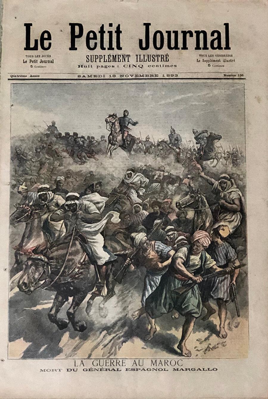 Fransız Le Petit Journal dergisinin 1893 tarihli bir sayısının kapağında, İspanya'nın Fas'a müdahalesi tasvir edilmiş.