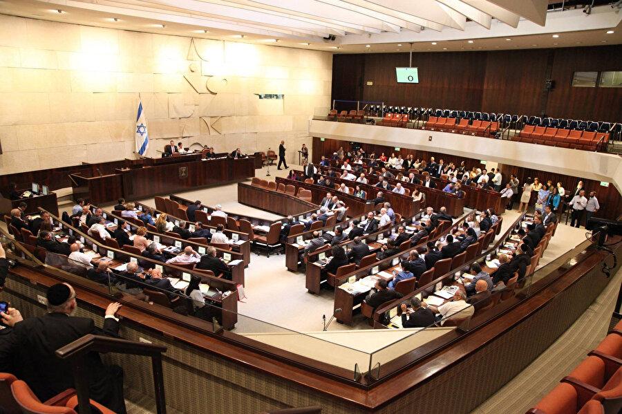İsrail Parlamentosu genel kurul salonu.