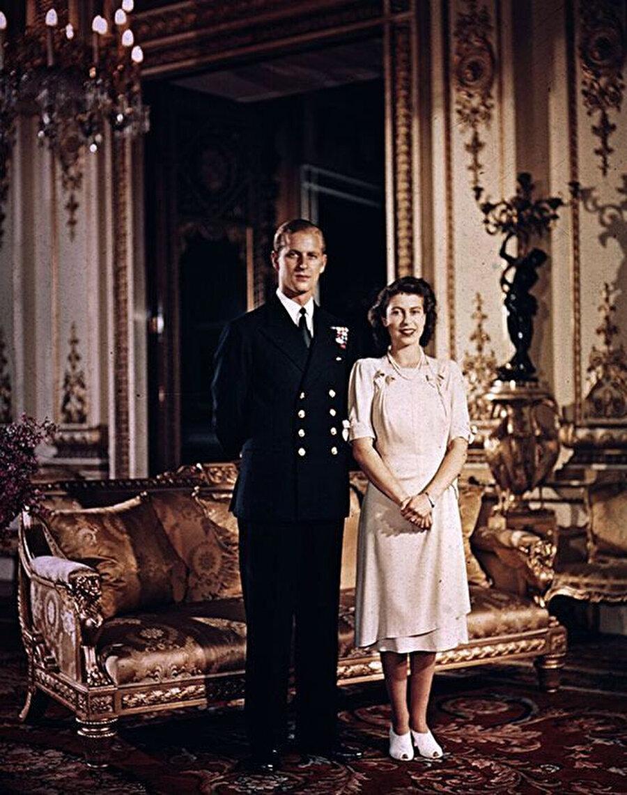 Kraliçe ve Prens Philip Mountbatten.