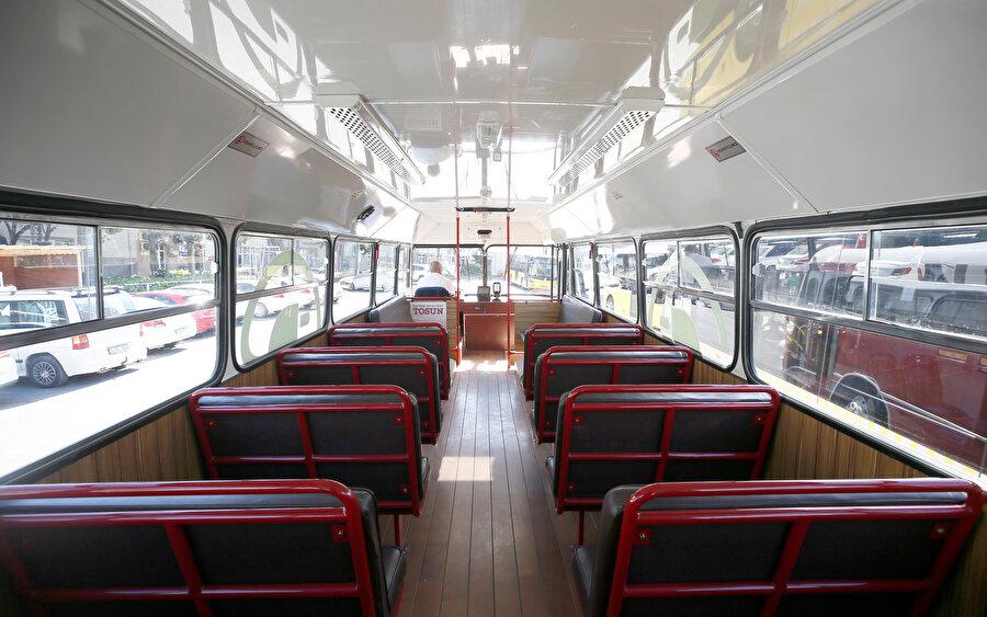 Tosun, 34 koltukta, 36 ayakta olmak üzere 70 yolcu kapasitesine sahip.