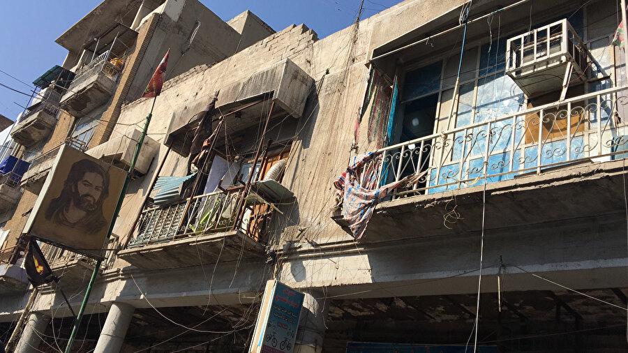 Bağdat merkezde bir sokak arası.